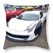 Ferrari 458 Wide Body Throw Pillow