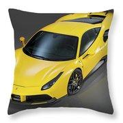 Ferrari 488 Throw Pillow