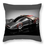 Ferrari Concept Black Throw Pillow