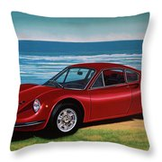 Ferrari Dino 246 Gt 1969 Painting Throw Pillow