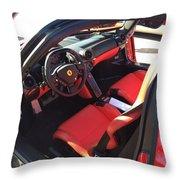 Ferrari Enzo Interior Throw Pillow