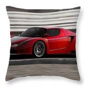 Ferrari Enzo - Rosso Corsa Throw Pillow