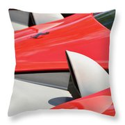 Ferrari Exhaust Pipes Throw Pillow
