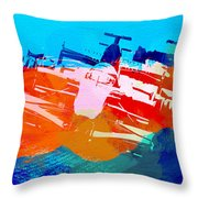 Ferrari F1 Racing Throw Pillow by Naxart Studio