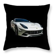 Ferrari F12 Berlinetta In White Throw Pillow