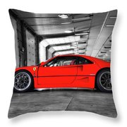 Ferrari F40 Throw Pillow
