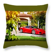 Ferrari F430 On Adv1 Wheels 2 Throw Pillow
