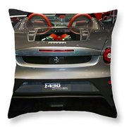 Ferrari F430 Spyder Convertible Throw Pillow