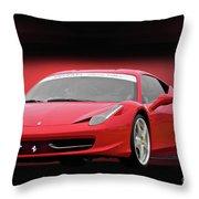 Ferrari F458 'iconic Italian Sports Car' Throw Pillow