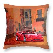 Ferrari F50 Throw Pillow