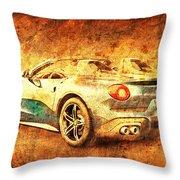 Ferrari F60 America, Golden Poster, Birthday Gift For Men Throw Pillow