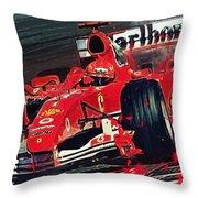 Ferrari - Michael Schumacher  Throw Pillow