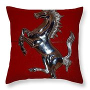 Ferrari Stallion Throw Pillow