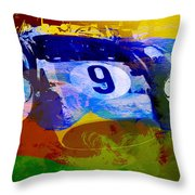 Ferrari Testarossa Watercolor Throw Pillow by Naxart Studio