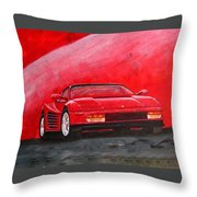 Ferrari Testarrossa Throw Pillow