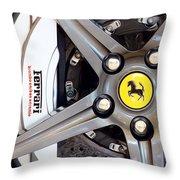 Ferrari Wheel Op 121915 Throw Pillow