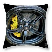 Ferrari Wheel Throw Pillow