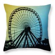 Ferris Wheel - Wildwood New Jersey Throw Pillow