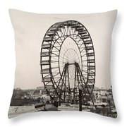 Ferris Wheel, 1893 Throw Pillow