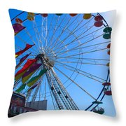Ferris Wheel 6 Throw Pillow