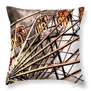 Ferris Wheel At Sunset Throw Pillow