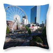 Ferris Wheel Atl Throw Pillow