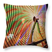 Ferris Wheel  Closeup Night Long Exposure Throw Pillow