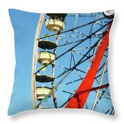 Ferris Wheel Closeup Throw Pillow