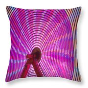 Ferris Wheel I Throw Pillow
