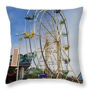 Ferris Wheel Santa Cruz Boardwalk Throw Pillow