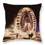 Ferris Wheels Tower 536 2 Throw Pillow