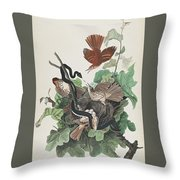 Ferruginous Thrush Throw Pillow