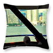 Ferry Across The Harbor Throw Pillow