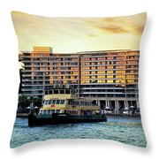 Ferry And The Toaster Throw Pillow