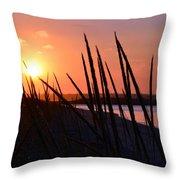 Ferry Beach Throw Pillow
