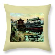 Ferry Boat Throw Pillow