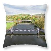 Ferry Bridge Burton On Trent Throw Pillow