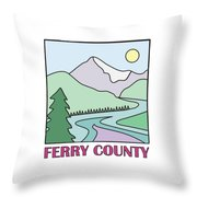 Ferry County II Throw Pillow by Sarah Lawrence