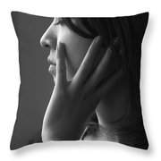 Ferry Girl Throw Pillow