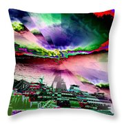 Ferry Illusion Throw Pillow