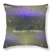 Ferry In The Fog Throw Pillow