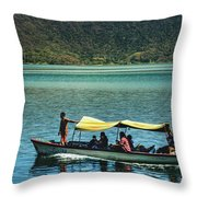 Ferry - Lago De Coatepeque - El Salvador I Throw Pillow