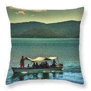 Ferry - Lago De Coatepeque - El Salvador Throw Pillow