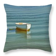 Ferry Landing Dinghy Throw Pillow