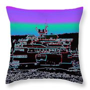 Ferry On Elliott Bay 4 Throw Pillow