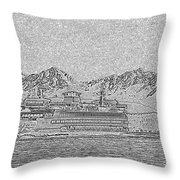 Ferry On Elliott Bay 5 Throw Pillow