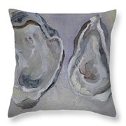 Ferry Oysters Throw Pillow