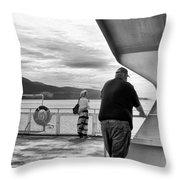 Ferry Passengers Throw Pillow
