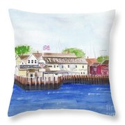 Ferry To Greenport Throw Pillow