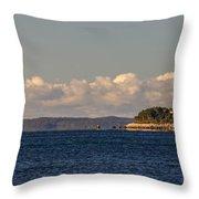 Ferry To Martha's Vineyard Passes Nobska Light Throw Pillow